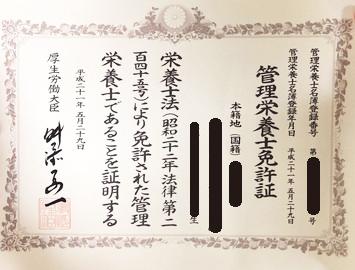 管理栄養士_国家試験免許